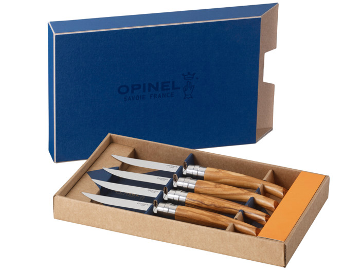 Noże OPINEL Table No. 10 Olive Box Set 001830